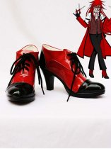 Black Butler Cosplay Grell Sutcliff Red & Black Cosplay Heels