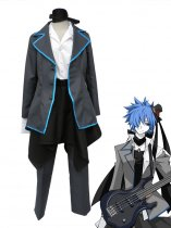 Character Vocal Series Kaito Black Uniform Cosplay Costume