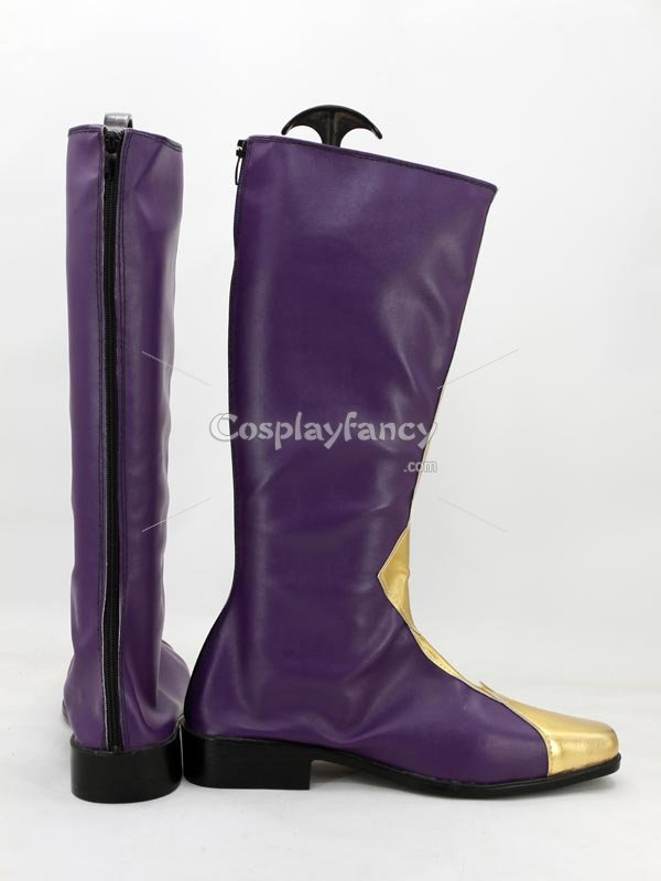 Code Geass modified versions of Lelouch / Zero Purple Cosplay Boots