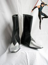 Fate Unlimited Codes Lancer Black Silver Cosplay Boots