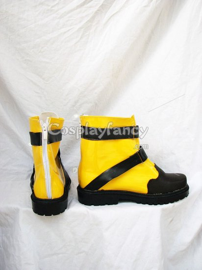 Final Fantasy X-2 Shuyin's Black & Yellow Cosplay Shoes Boots - Click Image to Close