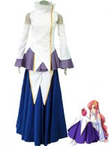 Gundam Seed Uniform Cloth Singing Girl Lacus Clyne Cosplay Costume