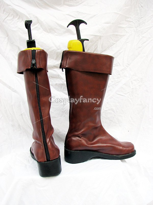 Mobile Suit Gundam 00 Cosplay Dark Brown Cosplay Boots