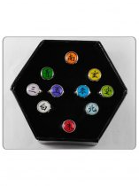 Naruto Akatsuki Ten-set Colorful Cosplay Finger Ring