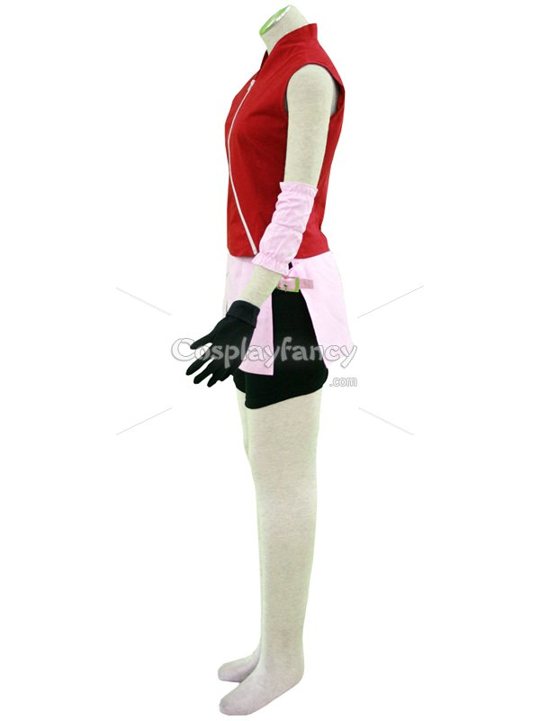 Naruto Cosplay Sakura Haruno Teenager 2nd Uniform Cosplay Costume
