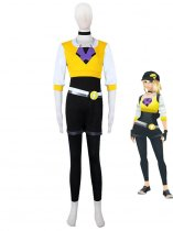 Pocket Monster Pokmon GO Team Yellow Female Trainer Uniform 2nd Type Anime Cosplay Costume