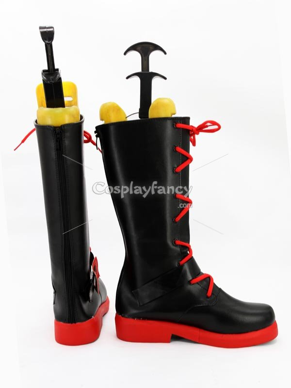 RWBY Red Trailer Ruby Rose Red & Black Cosplay Boots