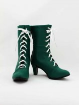 Sailor Moon Kino Makoto / Sailor Jupiter Green Cosplay Boots