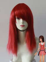 55cm Red Kingdom Hearts Kairi Cosplay Wig