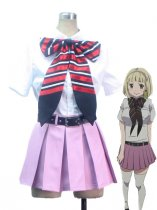 Ao no Exorcist Shiemi Moriyama True Cross Academy School Uniform Cosplay Costume
