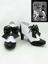 Black Butler Ciel Phantomhive Black & White Hight Heel Cosplay Boots