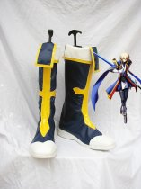 BlazBlue Jin Kisaragi Dark Blue Military Cosplay Boots