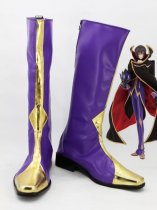 Code Geass Lelouch / Zero Purple & Gold Cosplay Boots