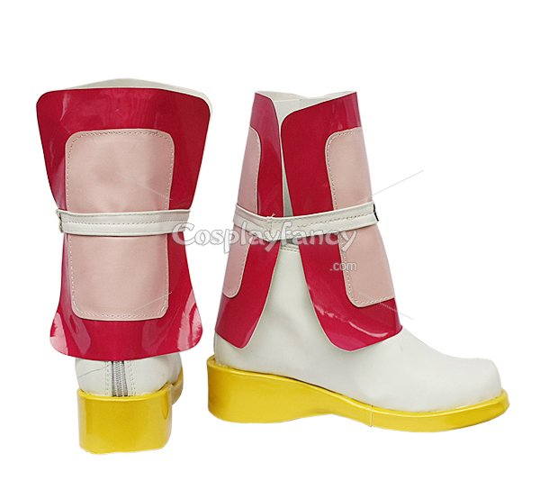 Magical Girl Lyrical Nanoha White and Pink Cosplay Boots