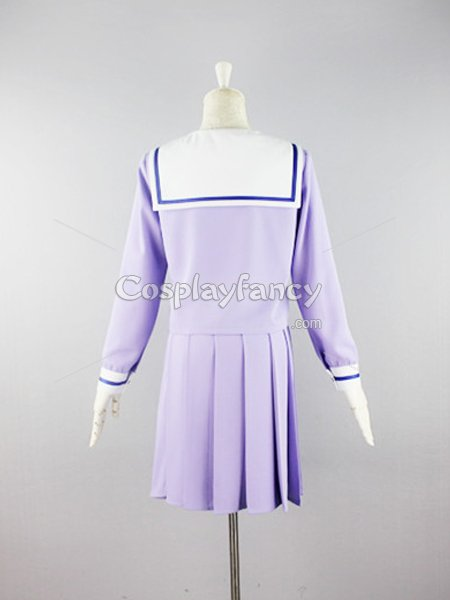 Noragami Iki Hiyori Light Purple Coplay Cotsume/School Uniform