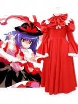 Touhou Project Cosplay Nagae Iku Red Cosplay Costume