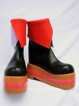 Vocaloid Luka Red & Purple & Black PU Boots