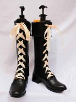 Vocaloid MIKI Black PU Cosplay Boots