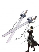 Attack on Titan Rivaille Cosplay Wood Sword