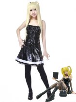 Death Note Cosplay Misa Amane Black Leather Cosplay Costume
