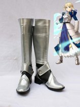 Fate Stay Night Saber Silver Long Cosplay Boots