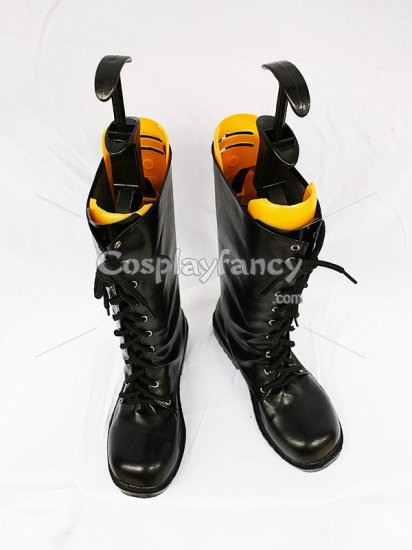 Final Fantasy Versus XIII Noctis Lucis Caelum's Cool Black Lace Up Leather Cosplay Boots - Click Image to Close