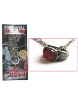 Fullmetal Alchemist Red Acrylic Ring Necklace Cosplay Necklace