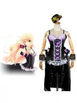 Macross Frontier Sheryl Nome Black Cosplay Costume