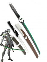 Overwatch Genji Shimada Wooden Swords Cosplay Weapons Katana