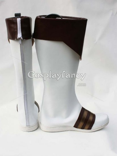 Tales of Xillia Alvin White & Brown Cosplay Boots - Click Image to Close
