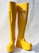 Vocaloid Kagamine Rin Yellow Cosplay Boots