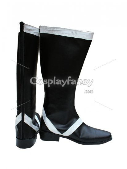 Vocaloid Kaito Cosplay Show Leather Boots - Click Image to Close