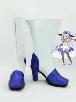 Vocaloid Miku Snow Blue & White Cosplay Boots