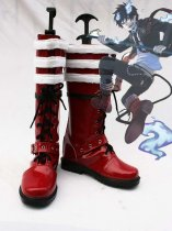 Ao no Exorcist Cosplay Rin Okumura Artificial Leather Cosplay Show Boots