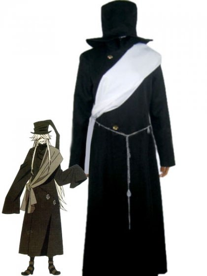Black Butler Cosplay Undertaker Black Cosplay Costume