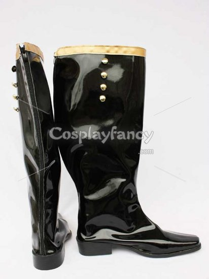 Castlevania Cosplay Earl Black Cosplay Boots - Click Image to Close