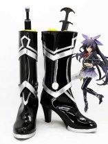 Date A Live Tohka Yatogami Black & Silver Cosplay Boots