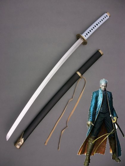 Devil May Cry 3 Cosplay Vergil Wood Cosplay Sword