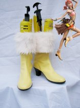 Final Fantasy XIII Vanilla Cute Yellow Furred Cosplay Boots
