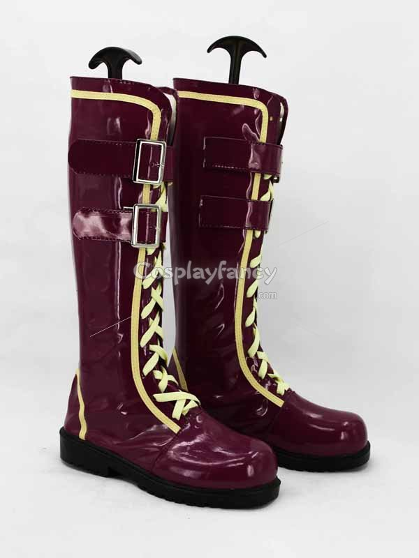 God Eater 2 Ciel Alencon Purple Cosplay Boots