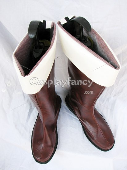 Hetalia Cosplay Axis Powers Switzerland Brown Cosplay Boots - Click Image to Close