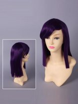 Mobile Suit Gundam 00 Tieria Erde Purple Cosplay Wig