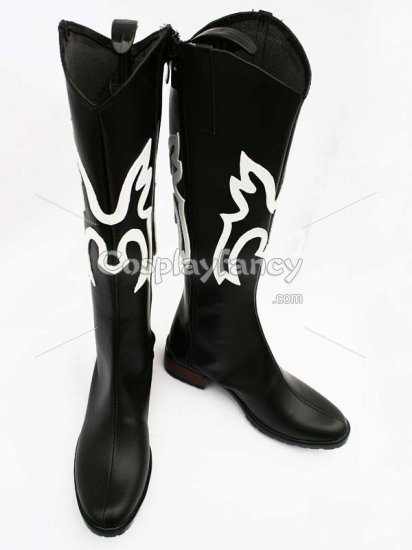 One Piece Cosplay Sanji Black Cosplay Boots - Click Image to Close