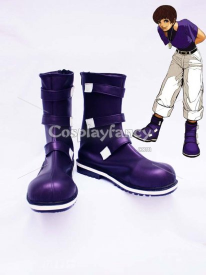 The King of Fighters Cosplay Chris Shiny Purple Cosplay Shoes