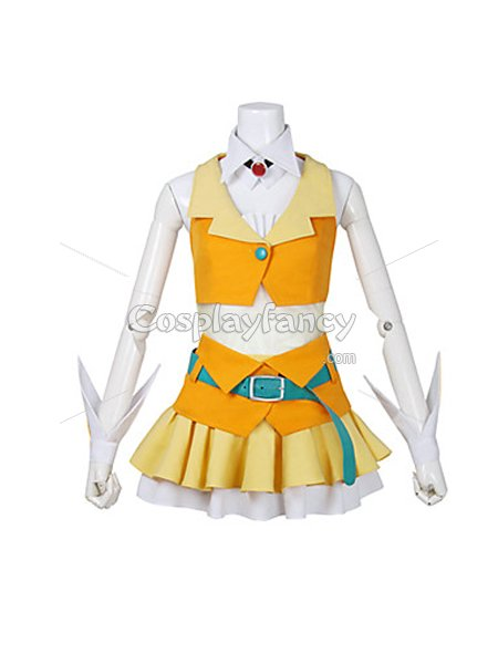 Vocaloid Gumi Yellow Cosplay Costume