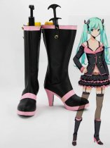 Vocaloid Hatsune Miku Pink and Black Hight Heel Cosplay Boots