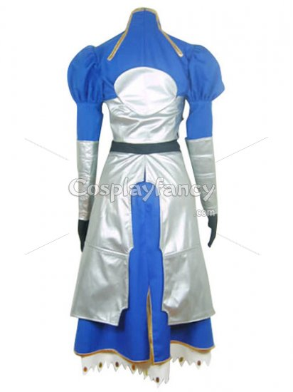 Fate/stay Night Saber Blue & Silver Cosplay Costume - Click Image to Close