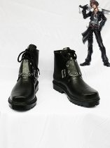 Final Fantasy VIII Squall Leonhart Black Cosplay Shoes