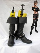 Final Fantasy X-2 Paine's Black Zippered Cosplay Boots