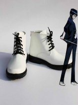 K Project Cosplay Kuroh Yatogami White Cosplay Show Boots